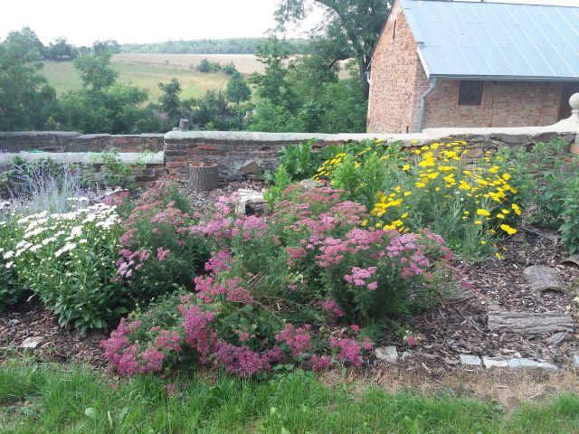 Rozkvetlá farní zahrada
